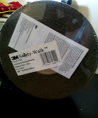 3M 7740 Anti-Slip Safety Walk Tread 2-Inch x 60-Ft. Roll, Gray NEW SEALED