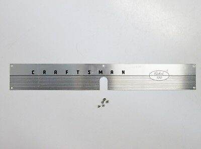 "Vintage Sears Craftsman Radial Arm Saw, Front Cover Trim Panel, ""Radial 10"""