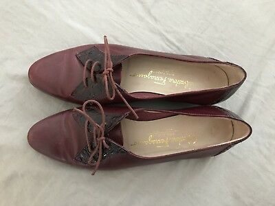 Salvadore Ferragamo Shoes Size 6 EU 36 Burgundy Bordeaux Red