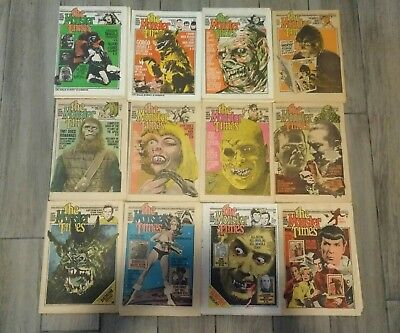 12 Issues The Monster Times (1972-1976)