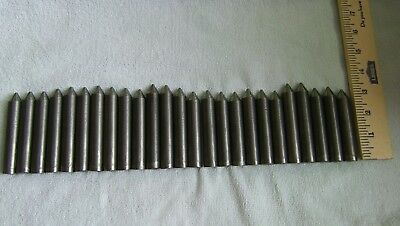 "25 Pcs 5/8"" Dia 4140 CR Annealed Made in USA Steel Bars,Rods,Around 7 1/2 Feet"