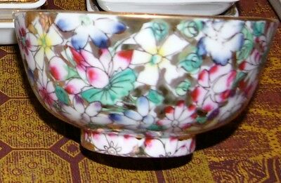 Set of 4 ACF Japanese Porcelain Ware Decorated In Hong Kong, Bowls