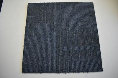Interface Glass Bac Grey Stripped Rubber Backed Carpet Tiles