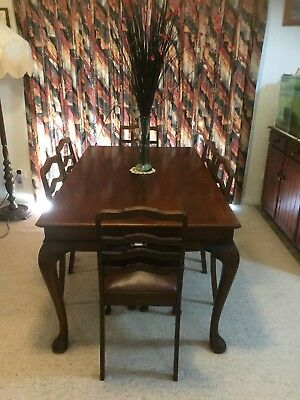 7 Piece Dining Set Table 6 Chairs Furniture Setting Dining Room Brown