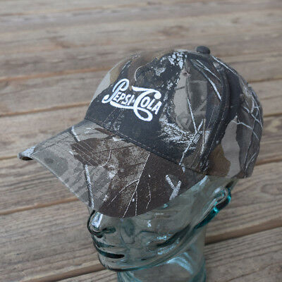 Port Authority Camouflage with White PEPSI-COLA Embroidered Logo Baseball Cap