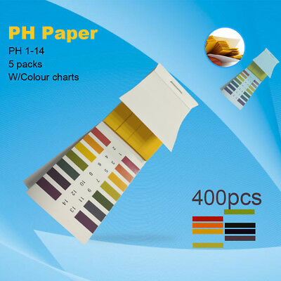 400x Universal Indicator Paper pH Testing Papers/Strips-For Food&Health Test New
