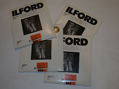 """ILFORD PHOTOGRAPHIC PAPER 100 SHEETS B$W 8x10"""" PEARL GRADE 3 INFOSPEED RC DELUXE"""