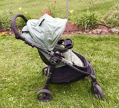 Rare Green Baby Jogger City Versa Reversible Infant Toddler Stroller Child +Tray