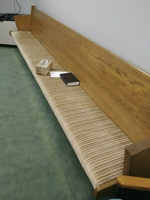 10 Solid Wood with padding Church Pews - 15 Foot long - $120 Each
