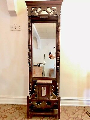 RARE FIND! EASTLAKE VICTORIAN ANTIQUE PIER MIRROR - 7-ft TALL