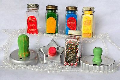 Vintage Glass Candy Decorations Bottles