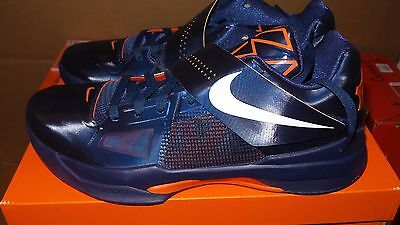 san francisco ac922 058ee Nike Air KD4 KD V 4 size 11 DS NEW Kevin Durant Weatherman Navy Orange EYBL