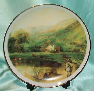 Vintage England Collector Plate ~ Country Scenes Meadow ~ Estate Collectable
