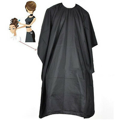 EP_ Hair Cutting Cape Pro Salon Hairdressing Hairdresser Gown Barber Solid Black