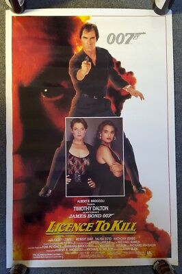 LICENSE TO KILL James Bond 007 1989 Original Rolled One Sheet Movie Poster