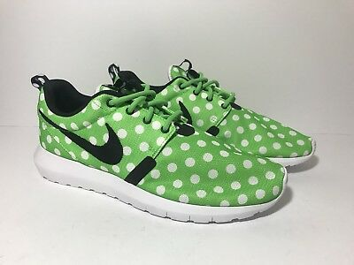 ef554cba0ea5 NIKE ROSHE NM QS Men s Shoes Sz 9 Green Strike Black White Polka Dot ...