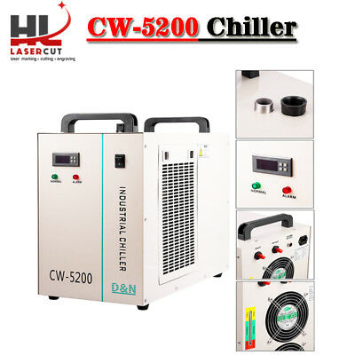 Industrial Water Chiller CW 5200 Chiller 6L Capacity For 130W/150W Laser Machine