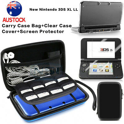Carrying Bag+Clear Case Cover+Screen Protector for New Nintendo 3DS XL LL AU