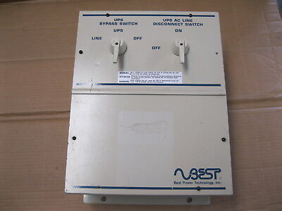 Best Power External Transfer Switch, BPE-02-MBB-1A, 300 Volts 40 Amps Phase 1