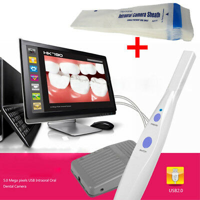 5.0 Mega Pixels 6-LED Dental Intraoral Oral Camera Endoscope USB Software Pedal