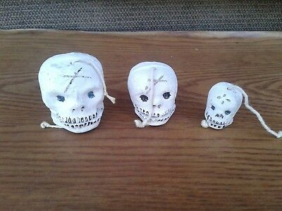 Day of the Dead skulls clay pottery Halloween folkart Mexico
