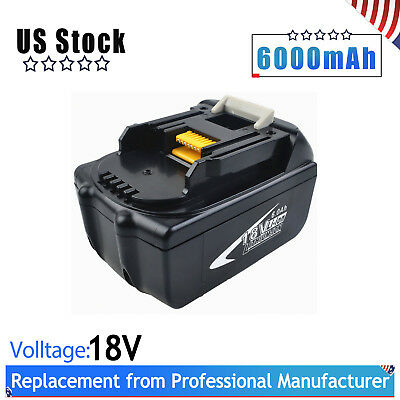 BL1860 18V 6.0Ah Lithium Battery Replace for MAKITA LXT BL1850 BL1840 BL1830