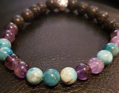 22cm weight loss bracelet aide apatite, amethyst spiritual motivational