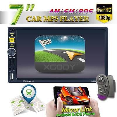 """7"""" Car Stereo Radio MP5 Player 2 DIN Bluetooth HD Touch Screen Remote Navigation"""