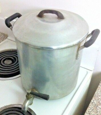 Large OLD Aluminum Hot Water Boiler / Urn with tap