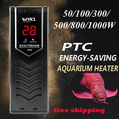 50-1000W PTC Aquarium Fish Tank Submersible Heater Adjustable Water Thermostat O