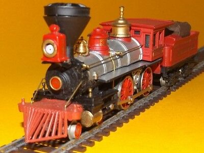 "Bachmann. HO. Old Time 4 4 0 Early Red ""Jupiter"" HO Locomotive."