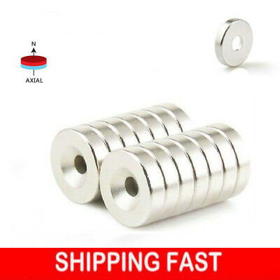 1-100 Strong Countersunk Ring Magnets 12 x 3mm Rare Earth Neodymium 3mm hole Hot