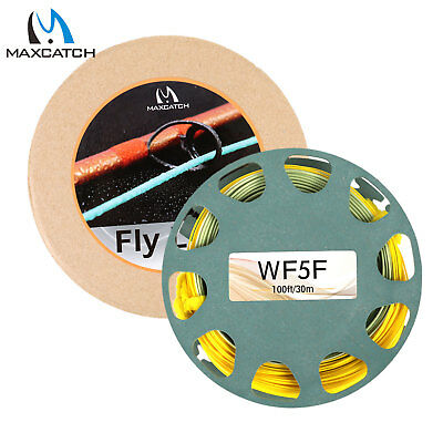 Maxcatch Gold Floating WF Fly Fishing Line with 2 Welded Loops - All Sizes