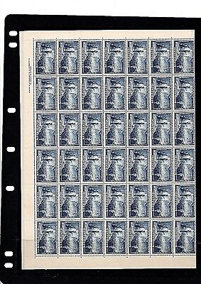 1951  5½d  BLUE   FULL SHEET of 84 - MNH  Sheet is folded in half -only ½sheet