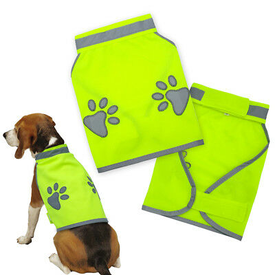 Dog Clothes Reflective Vest Coat Safety Gear Fluorescent Polyester For S-XL Dogs