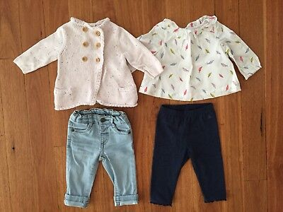 Baby Girl Clothes Bubdle Bulk Lot 3-6 Months 00 Gap Seed
