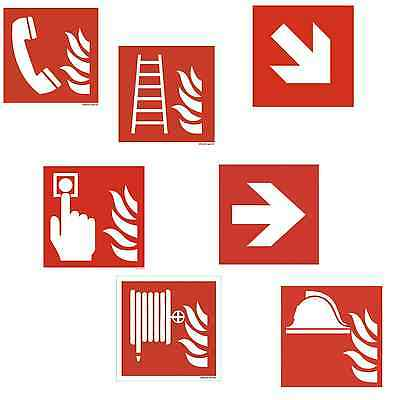 Fire Safety Signs Shield 15x15 LUMINESCENT FIRE EXTINGUISHER Ladder Encased