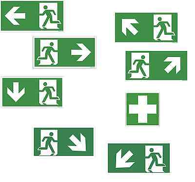 Escape Route Emergency Exit Shield Plastic Plate Escape Sign Emergency Way Asr