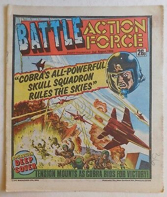 BATTLE - ACTION FORCE Comic - 2nd August 1986