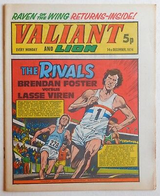 VALIANT and LION Comic - 14th December 1974