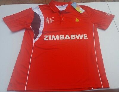 Zimbabwe ICC Cricket World Cup 2015 Polo Shirt Men's Size Medium, New With Tags