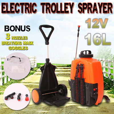 16L 12V Electric Backpack Tank and Trolley Sprayer Garden Weed Spot Rapid Spray