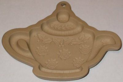 1999 Mary Engelbreit HOLLY STAR Ornament TEAPOT Cookie Mold Christmas Stoneware