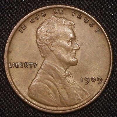 AU 1909 V.D.B. Lincoln Wheat Cent Penny Lamination Error Reverse