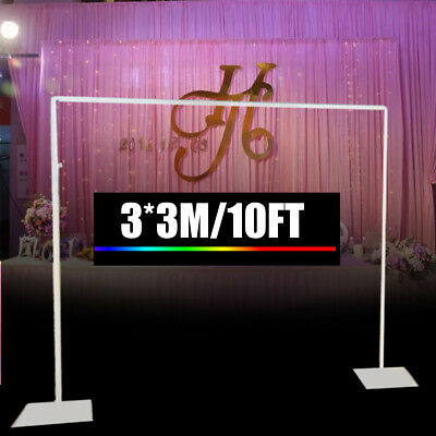 3*3M Telescopic Wedding Party Photo Backdrop Stand Pipe and Drape System 10ft