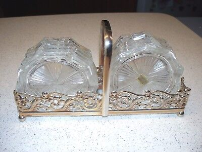 Vtg Set Of (12) Crystal Coasters Vmc Reims France In Original Tray