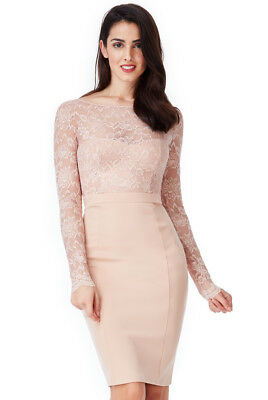 Asos Blush Open Back Lace Midi Dress With Bow Detail