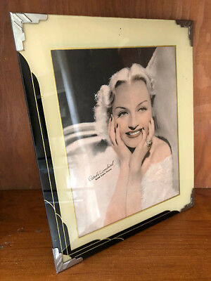 GREAT VINTAGE Art Deco Reverse Painted Picture Frame