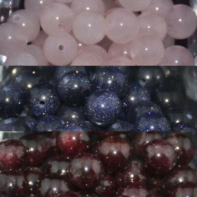 Wholesale Lot Natural Stone Gemstone Round Spacer Loose Beads Jewelry Making 8MM