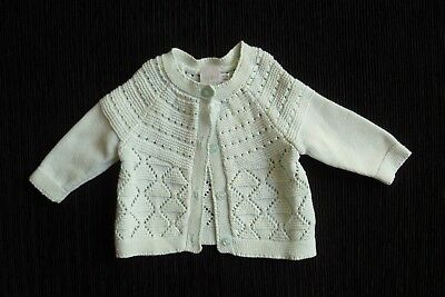 Baby clothes UNISEX BOY GIRL premature/tiny<7.5lbs/3.4kg aqua cardigan patterned